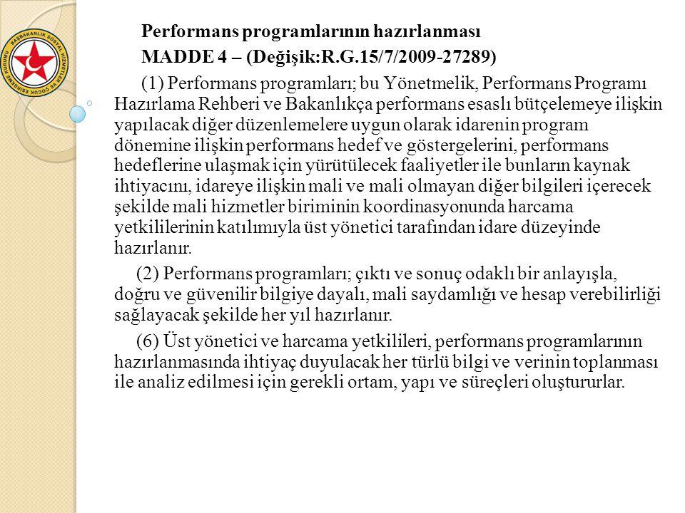 Performans programlarının hazırlanması