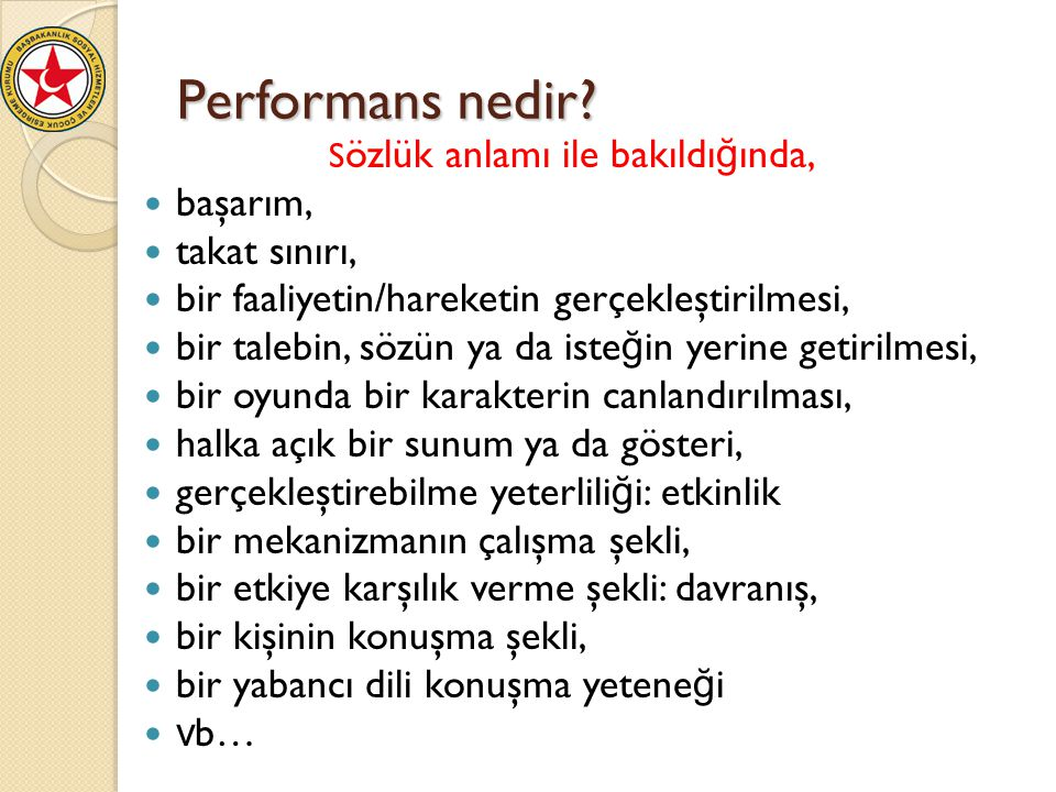 Performans nedir başarım, takat sınırı,