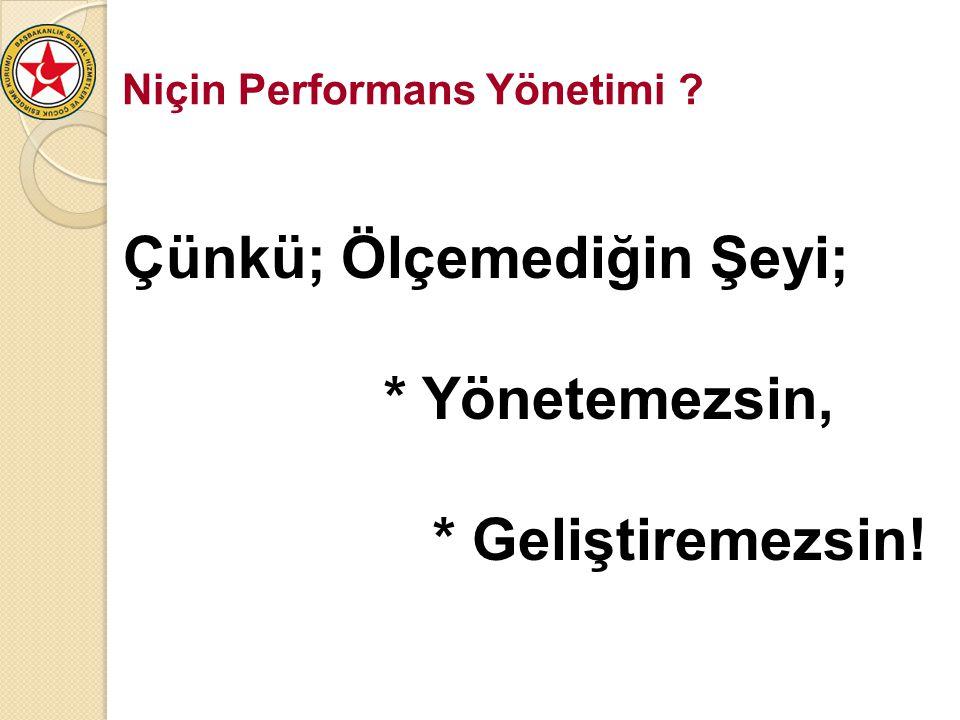Niçin Performans Yönetimi