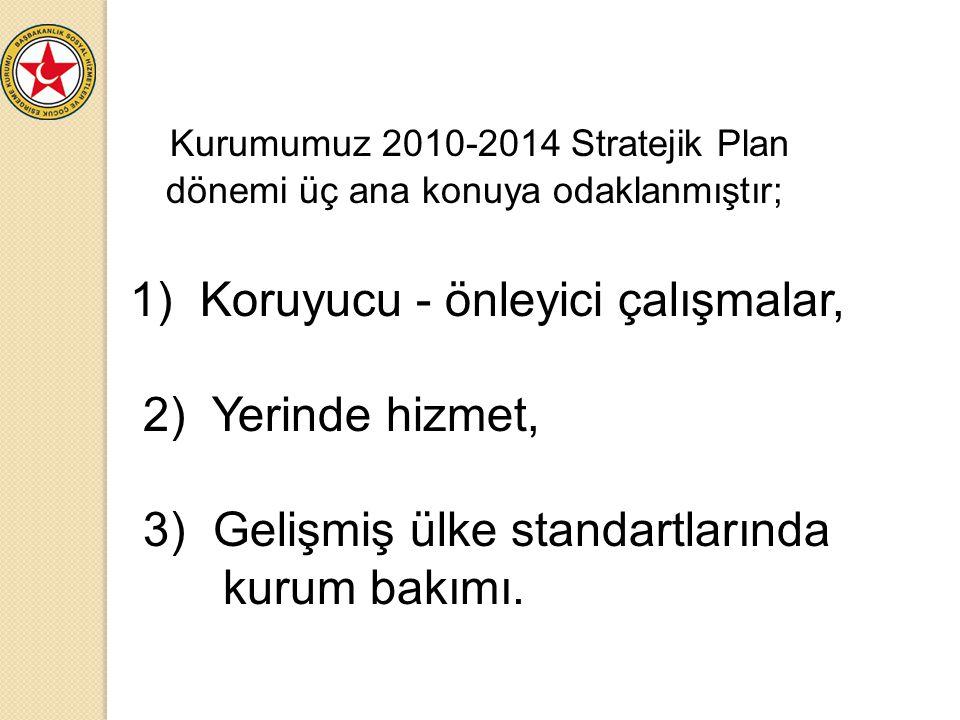 Kurumumuz 2010-2014 Stratejik Plan dönemi üç ana konuya odaklanmıştır;