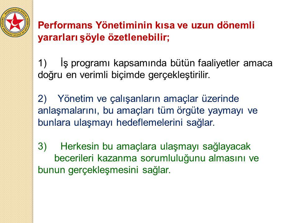 Performans Yönetiminin kısa ve uzun dönemli yararları şöyle özetlenebilir;