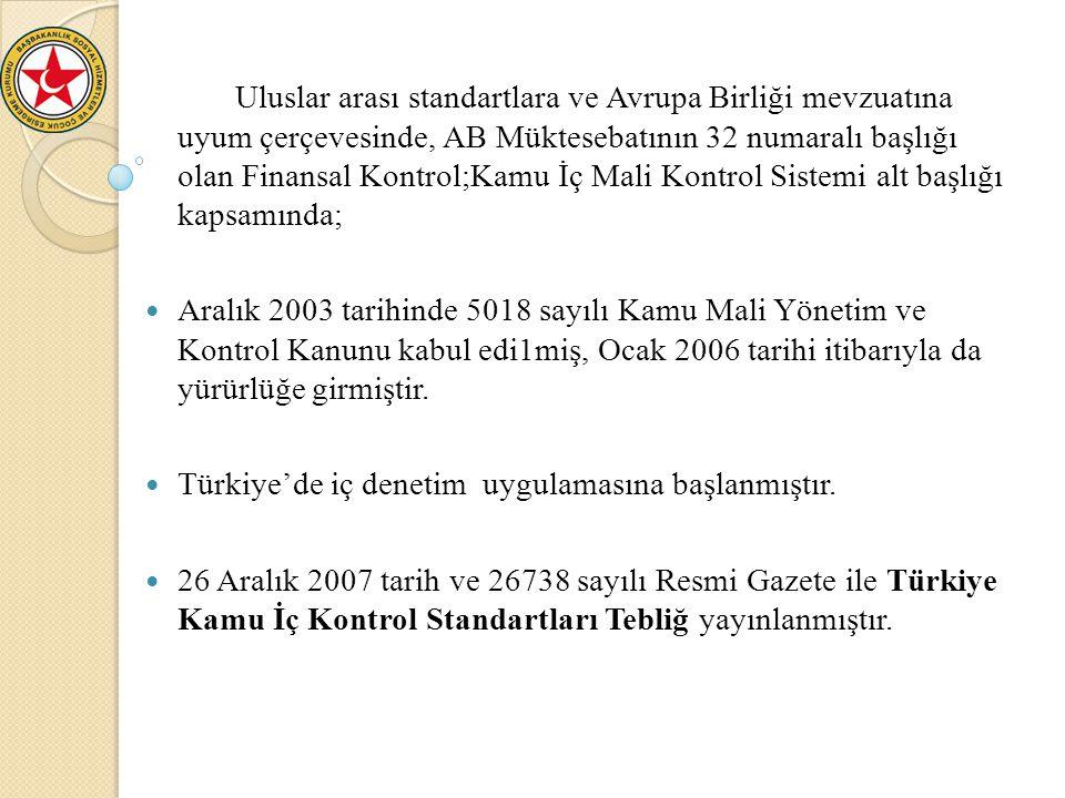 Türkiye'de iç denetim uygulamasına başlanmıştır.