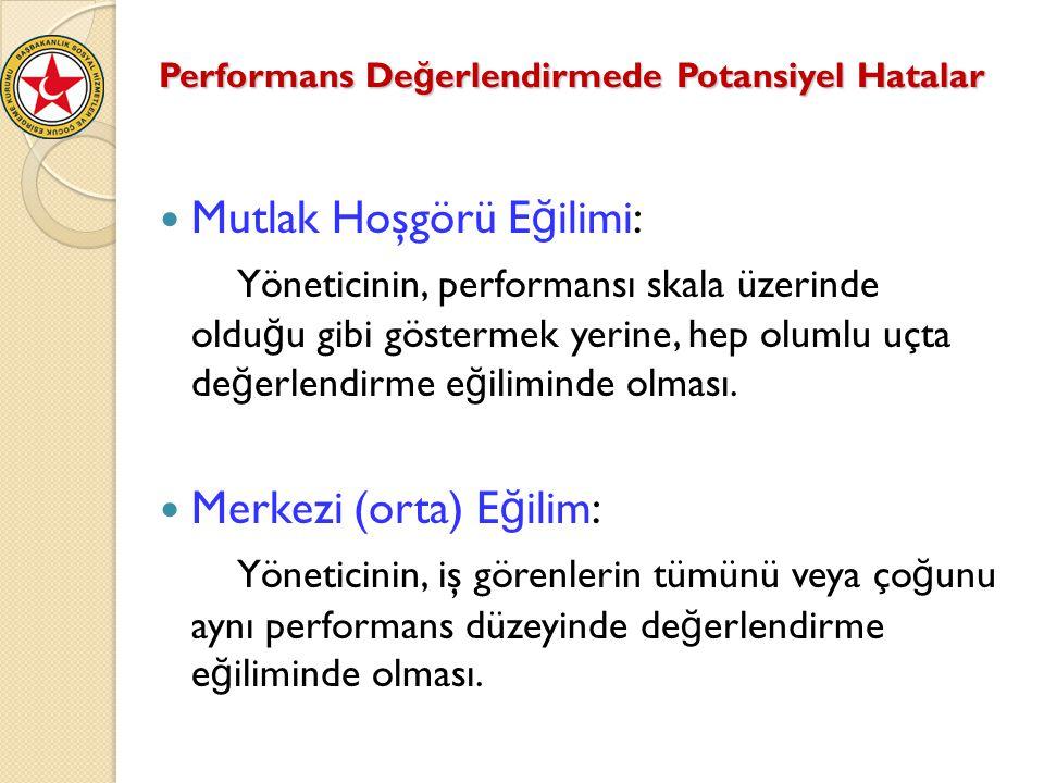 Performans Değerlendirmede Potansiyel Hatalar