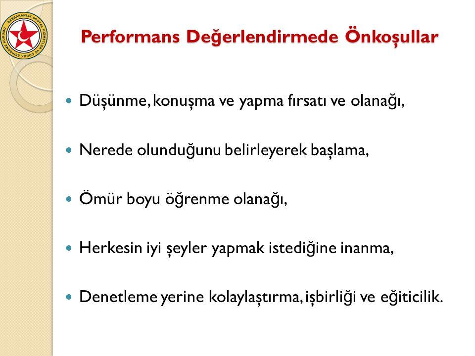 Performans Değerlendirmede Önkoşullar