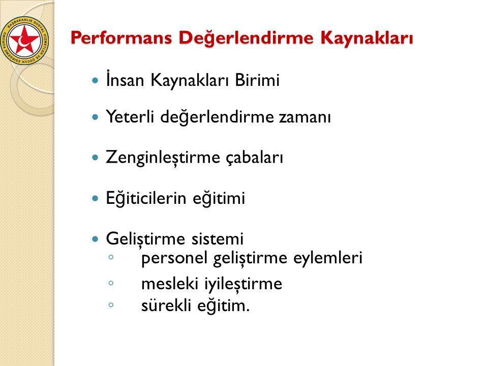 Performans Değerlendirme Kaynakları