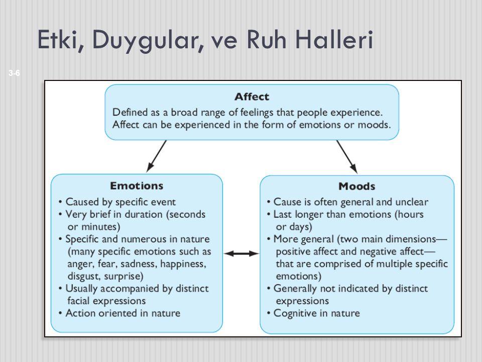 Etki, Duygular, ve Ruh Halleri