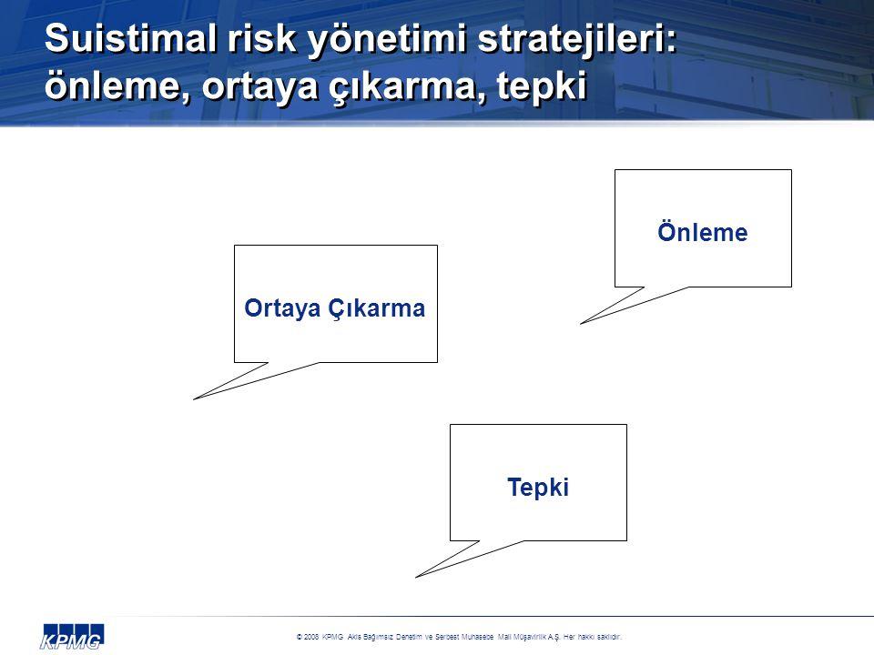 Suistimal risk yönetimi stratejileri: önleme, ortaya çıkarma, tepki
