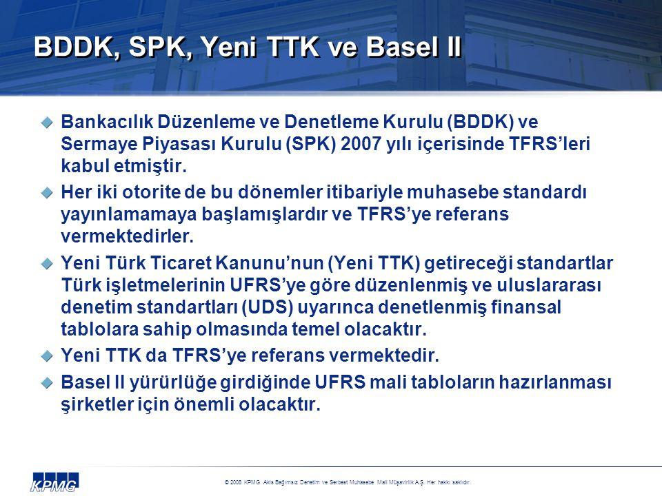 BDDK, SPK, Yeni TTK ve Basel II