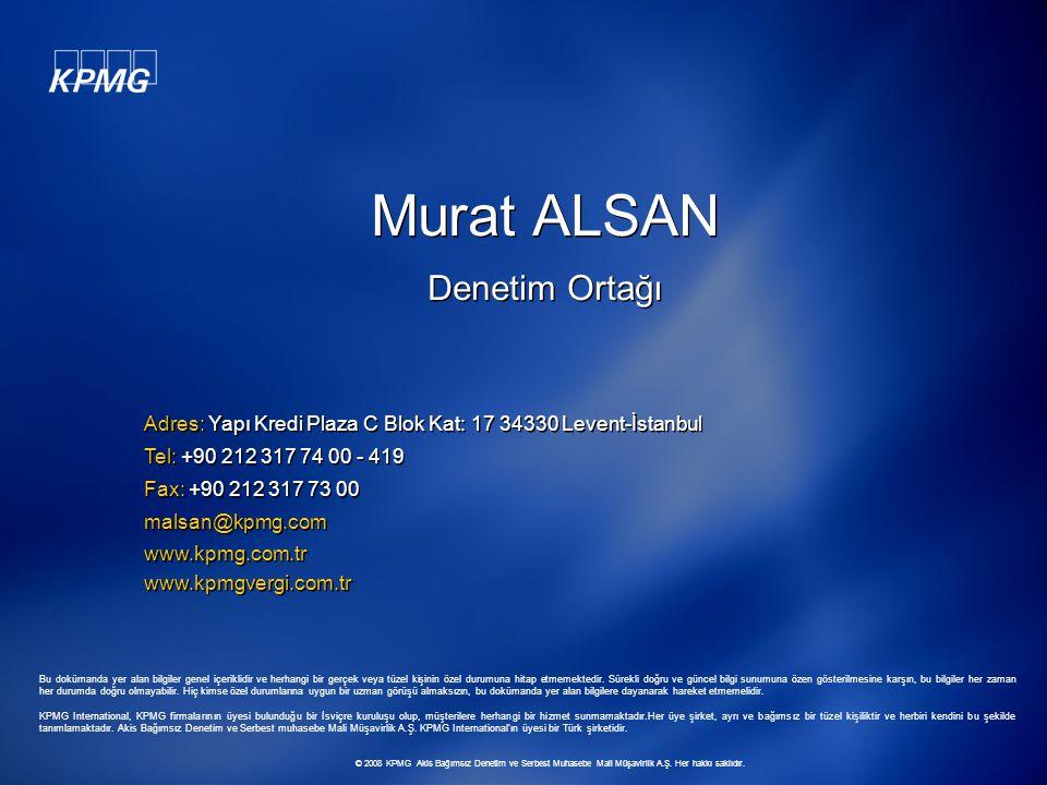 Murat ALSAN Denetim Ortağı
