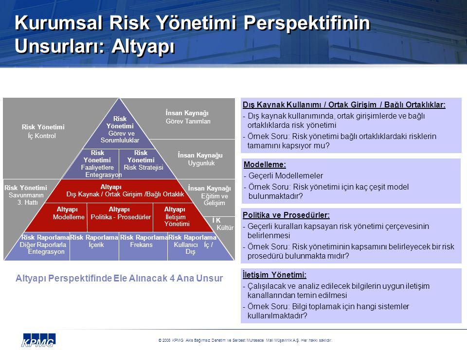 Kurumsal Risk Yönetimi Perspektifinin Unsurları: Altyapı