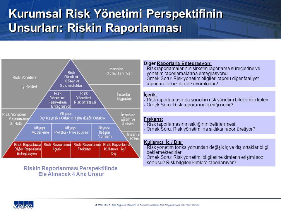 Kurumsal Risk Yönetimi Perspektifinin Unsurları: Riskin Raporlanması