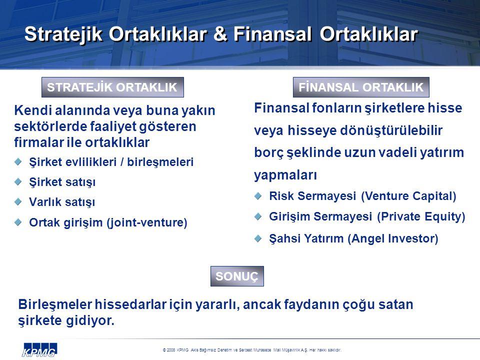 Stratejik Ortaklıklar & Finansal Ortaklıklar