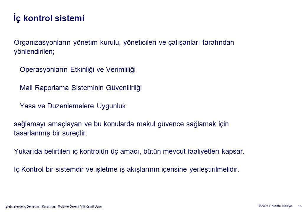 İç kontrol sistemi Organizasyonların yönetim kurulu, yöneticileri ve çalışanları tarafından. yönlendirilen;