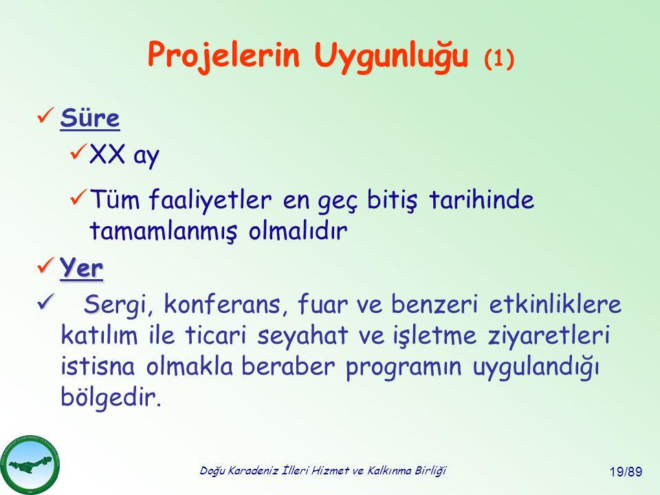 Projelerin Uygunluğu (1)