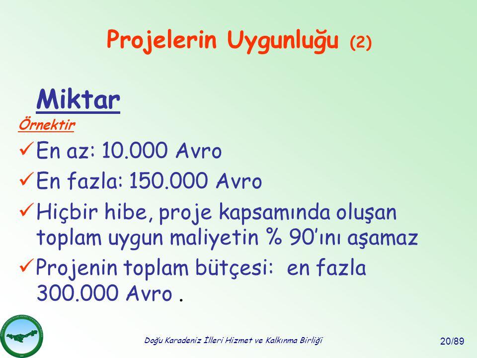 Projelerin Uygunluğu (2)