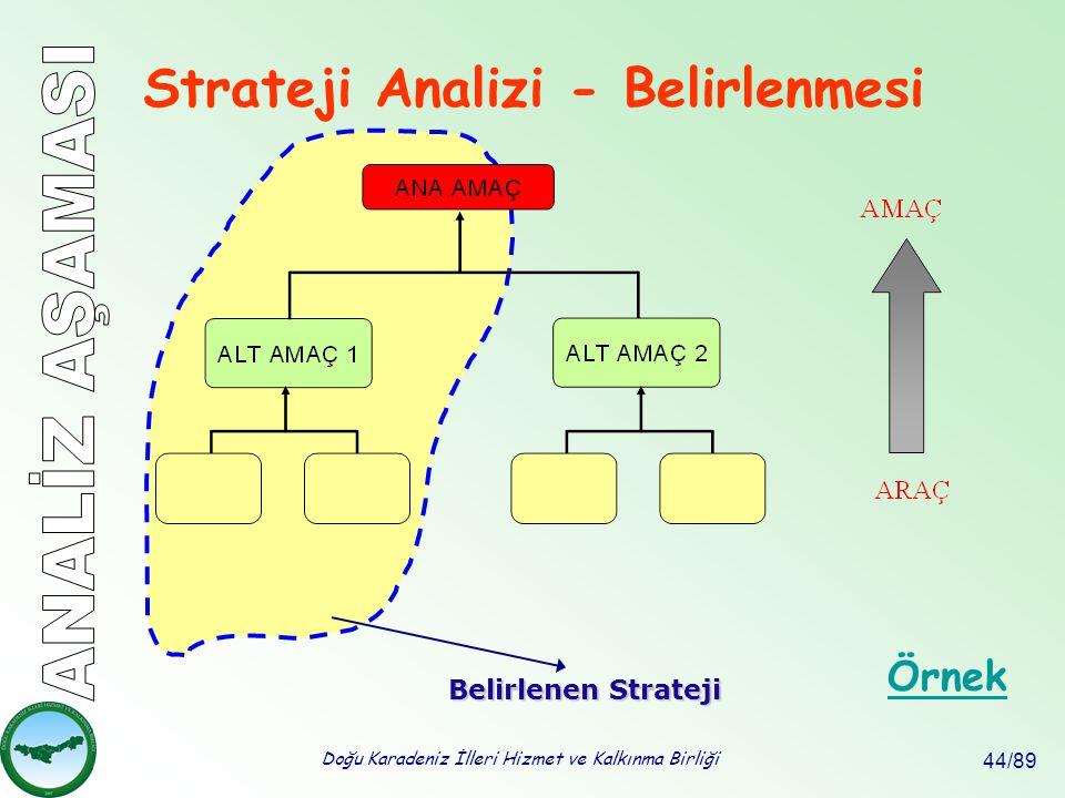 Strateji Analizi - Belirlenmesi