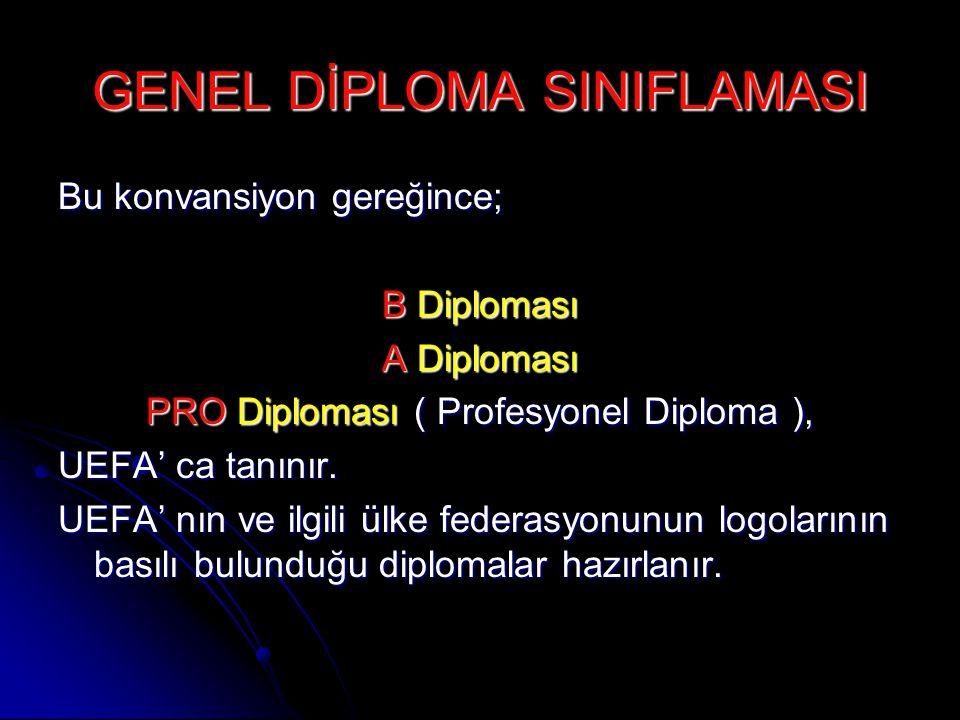 GENEL DİPLOMA SINIFLAMASI