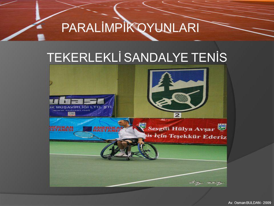 TEKERLEKLİ SANDALYE TENİS