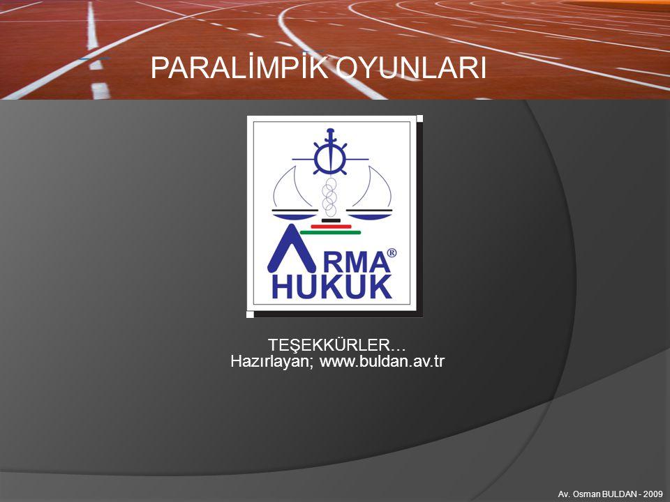Hazırlayan; www.buldan.av.tr
