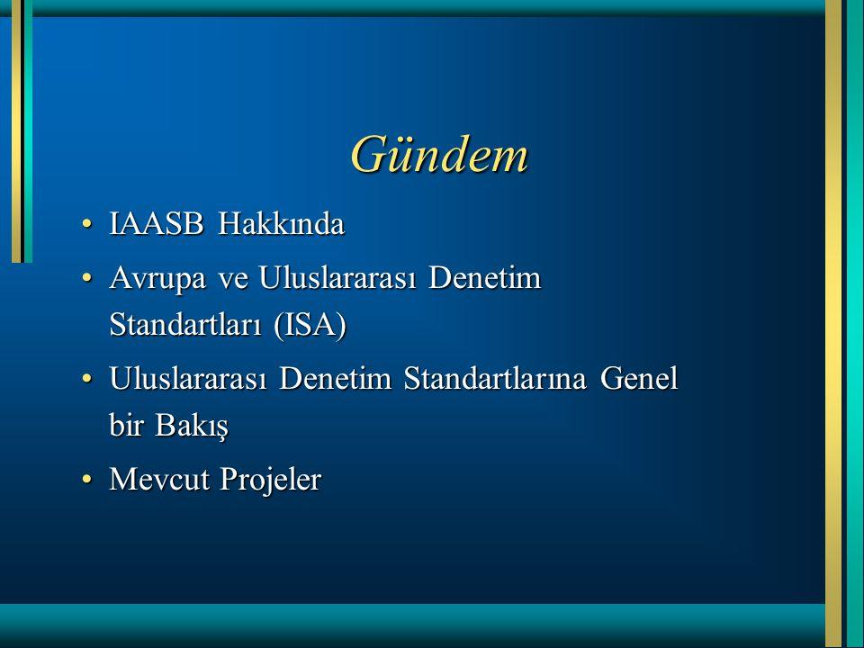 Gündem IAASB Hakkında. Avrupa ve Uluslararası Denetim Standartları (ISA) Uluslararası Denetim Standartlarına Genel bir Bakış.