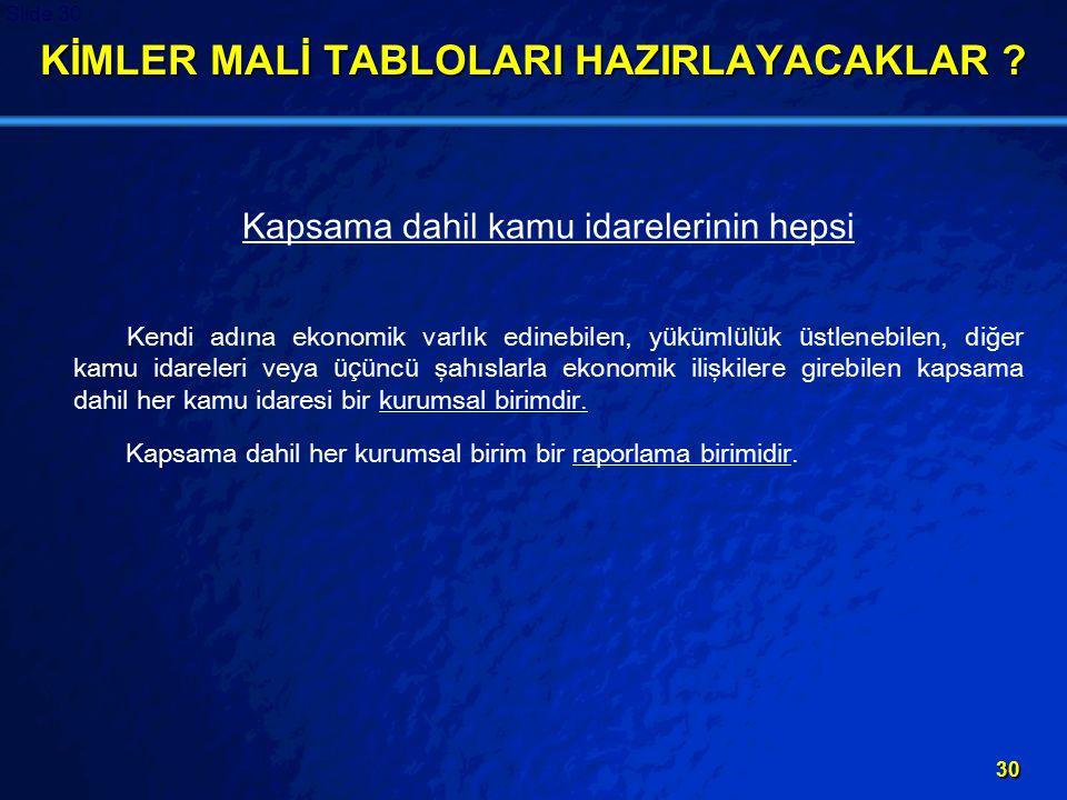 KİMLER MALİ TABLOLARI HAZIRLAYACAKLAR