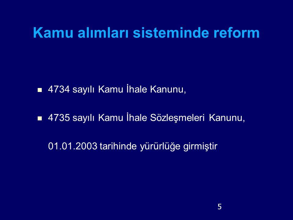 Kamu alımları sisteminde reform
