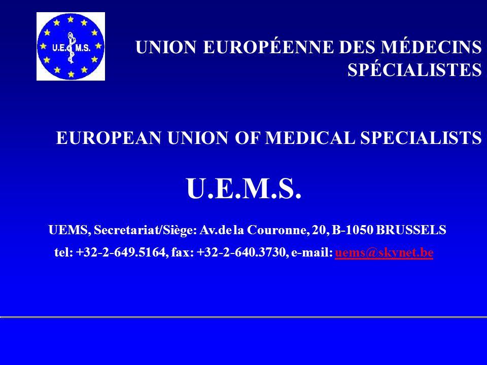 UNION EUROPÉENNE DES MÉDECINS SPÉCIALISTES