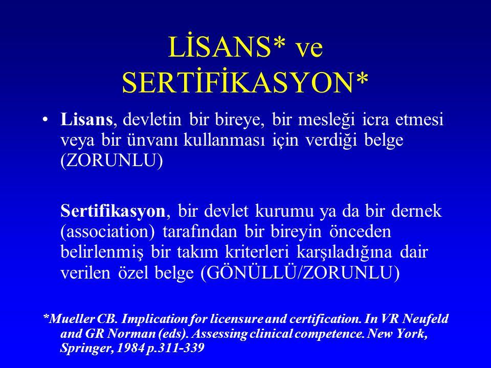 LİSANS* ve SERTİFİKASYON*