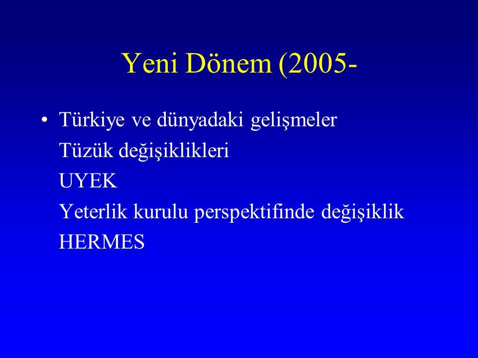 Yeni Dönem (2005- Türkiye ve dünyadaki gelişmeler Tüzük değişiklikleri