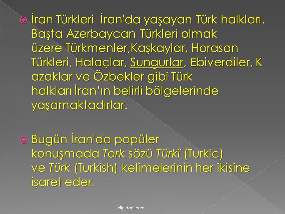 İran Türkleri İran da yaşayan Türk halkları