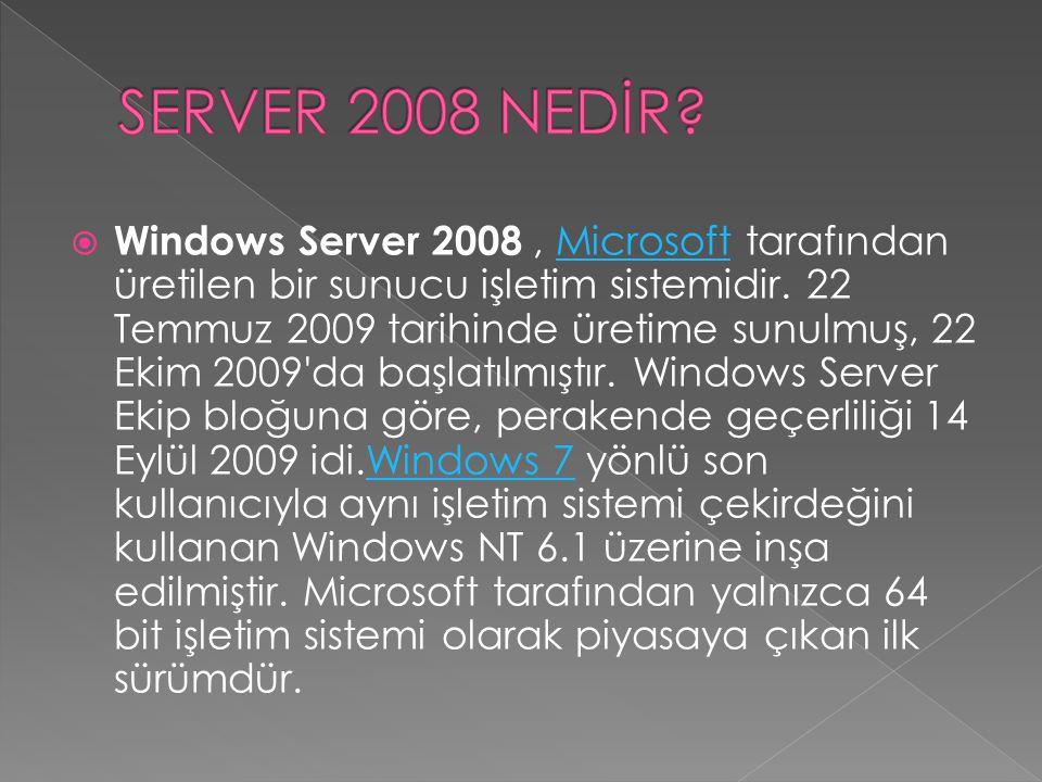 SERVER 2008 NEDİR