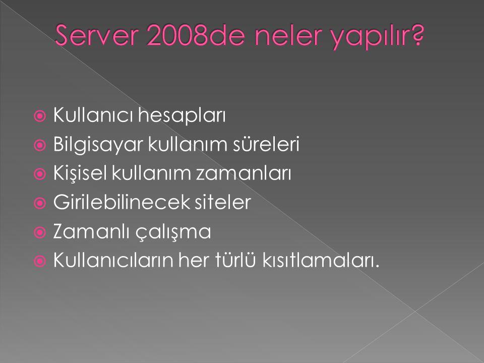 Server 2008de neler yapılır
