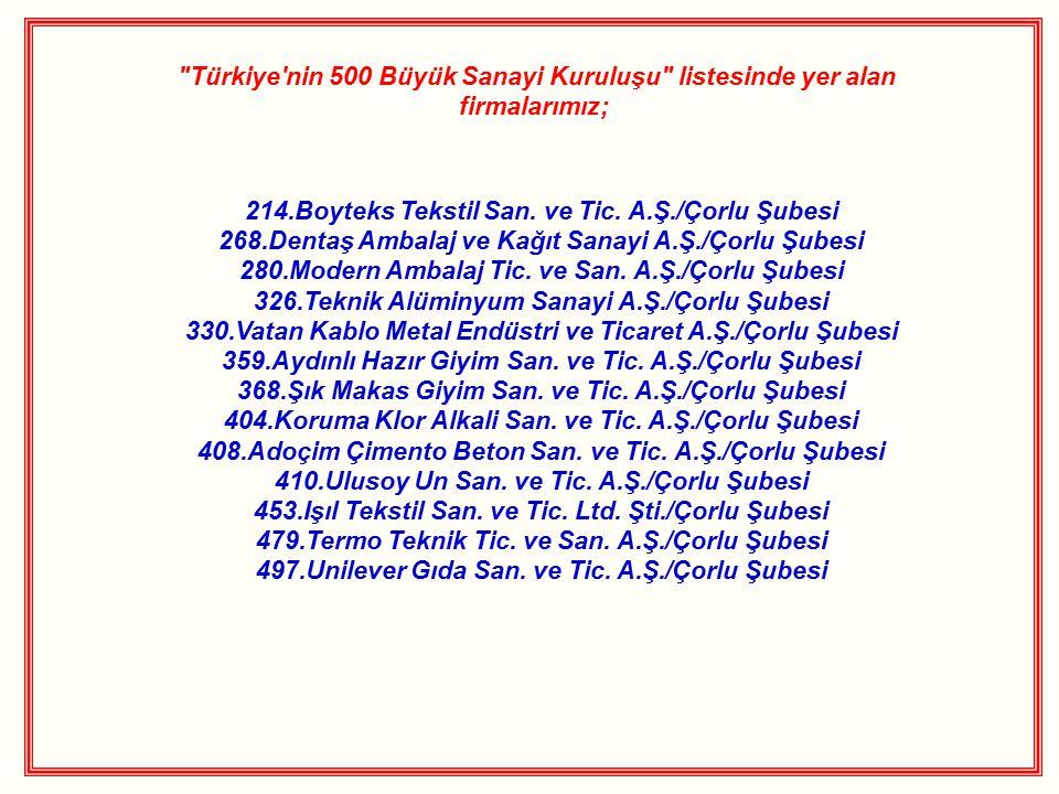 214.Boyteks Tekstil San. ve Tic. A.Ş./Çorlu Şubesi