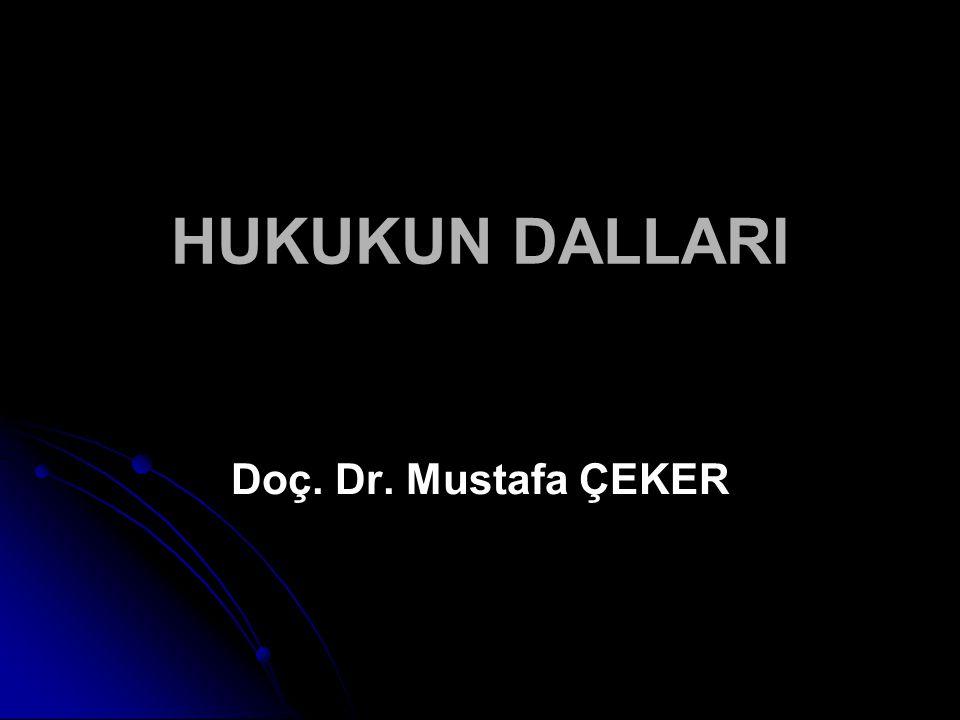 HUKUKUN DALLARI Doç. Dr. Mustafa ÇEKER