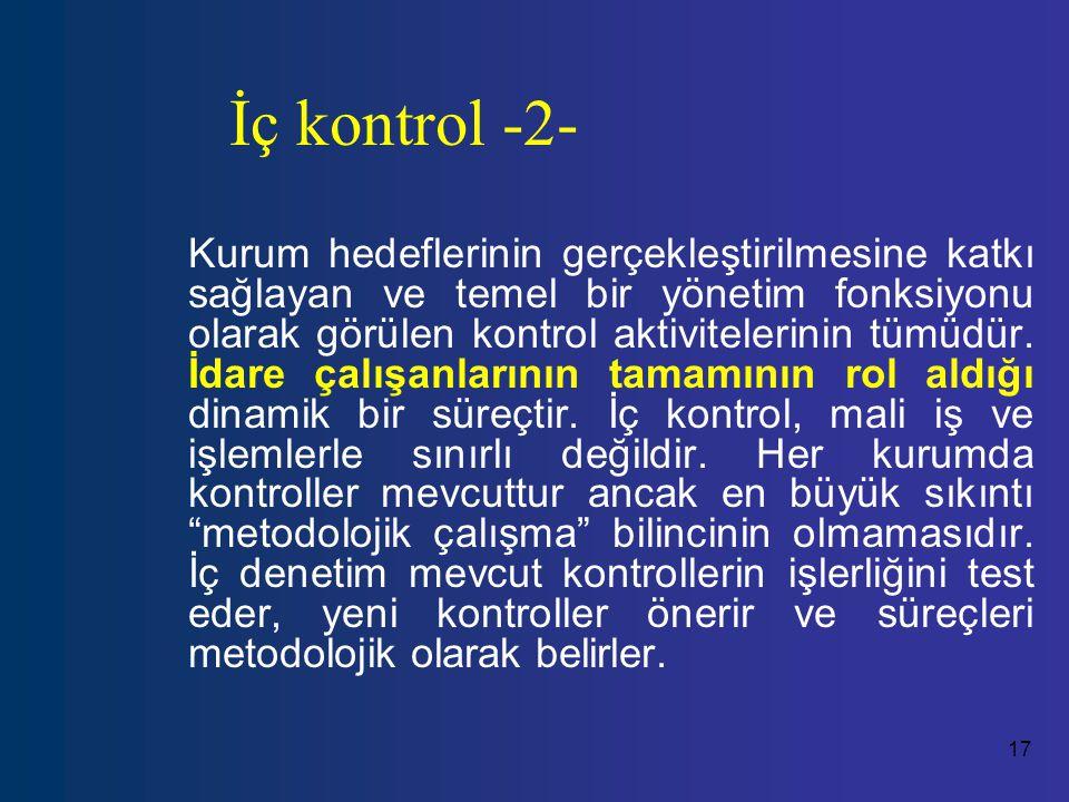 İç kontrol -2-