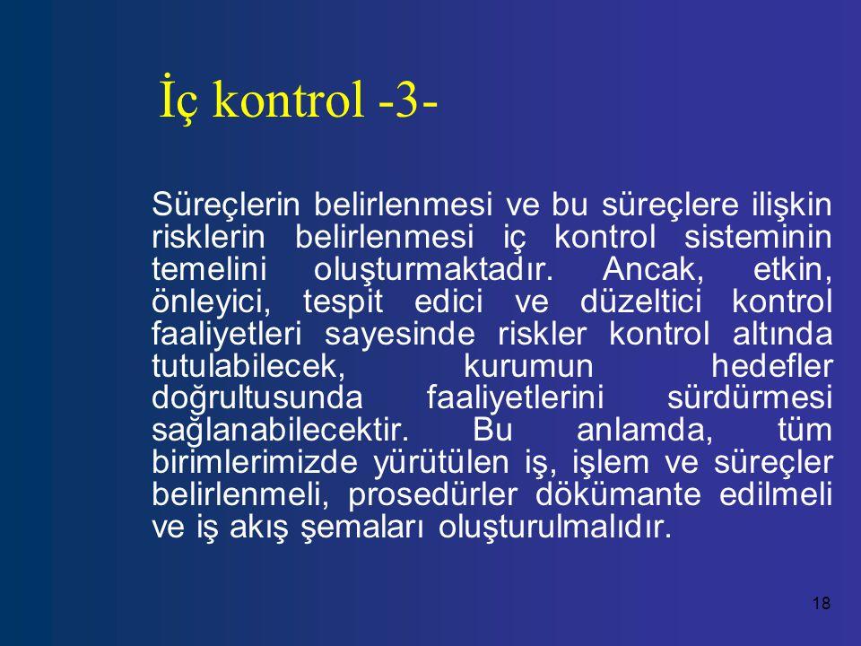 İç kontrol -3-