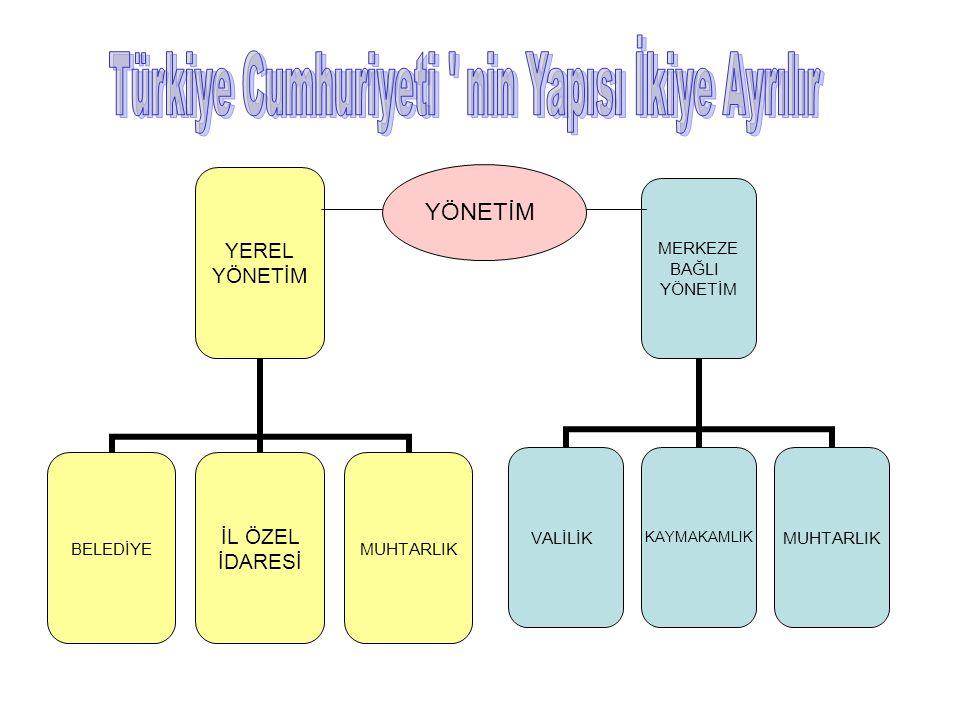 Türkiye Cumhuriyeti nin Yapısı İkiye Ayrılır