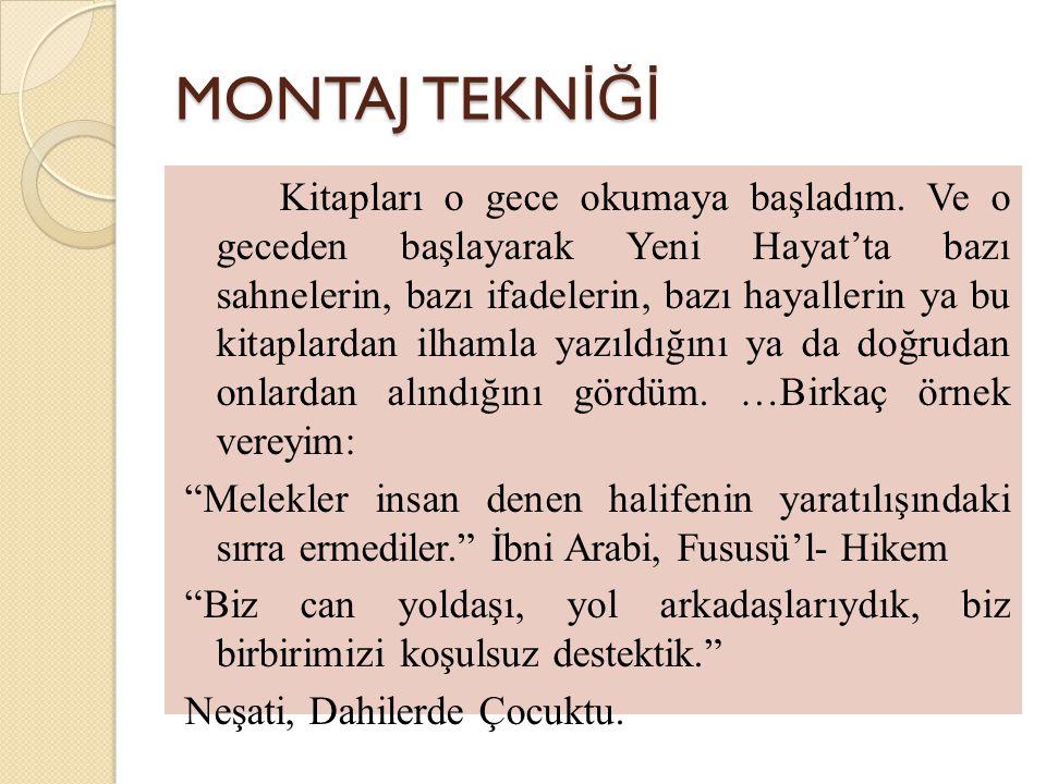 MONTAJ TEKNİĞİ