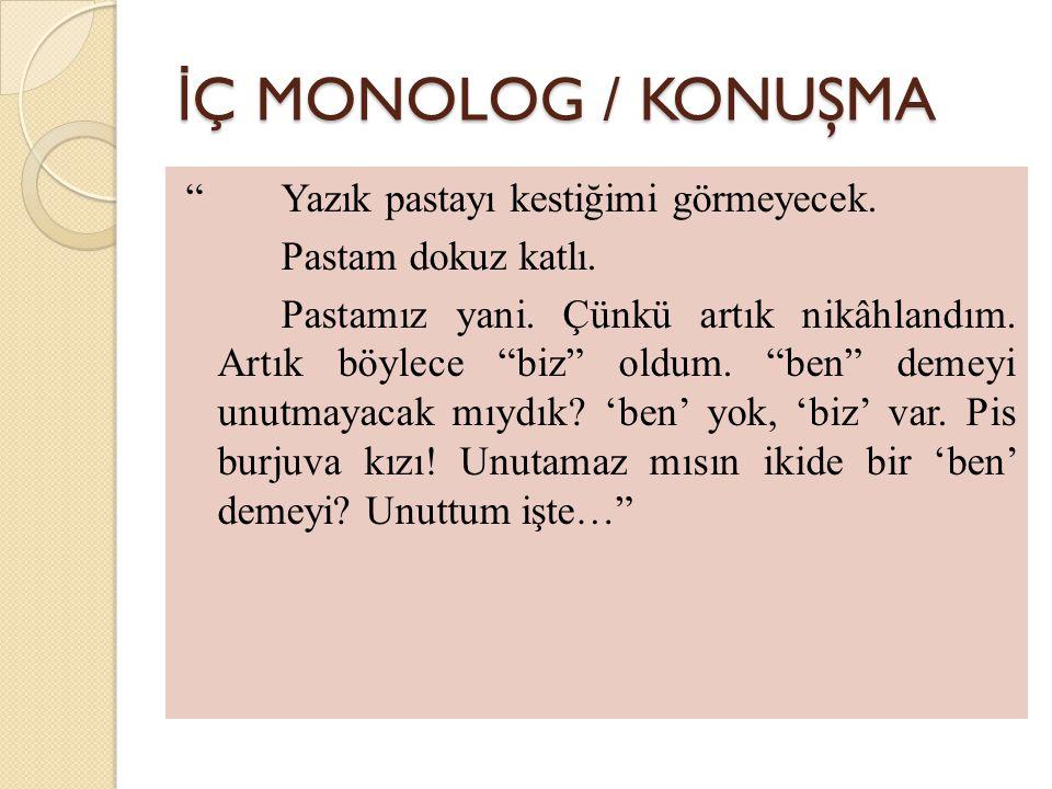 İÇ MONOLOG / KONUŞMA
