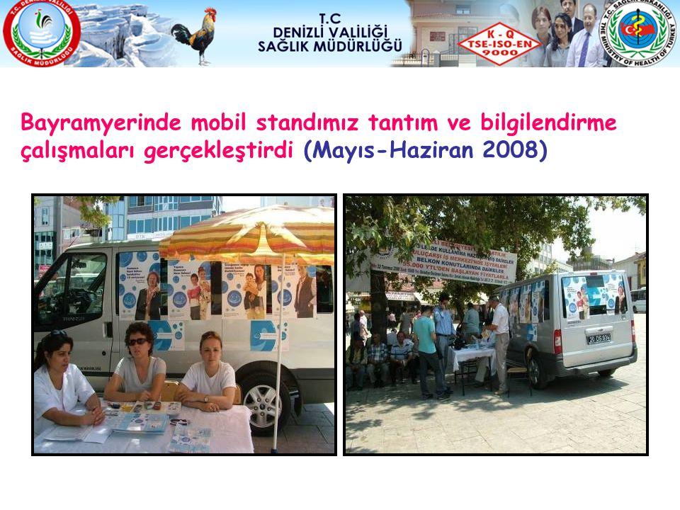 Bayramyerinde mobil standımız tantım ve bilgilendirme çalışmaları gerçekleştirdi (Mayıs-Haziran 2008)