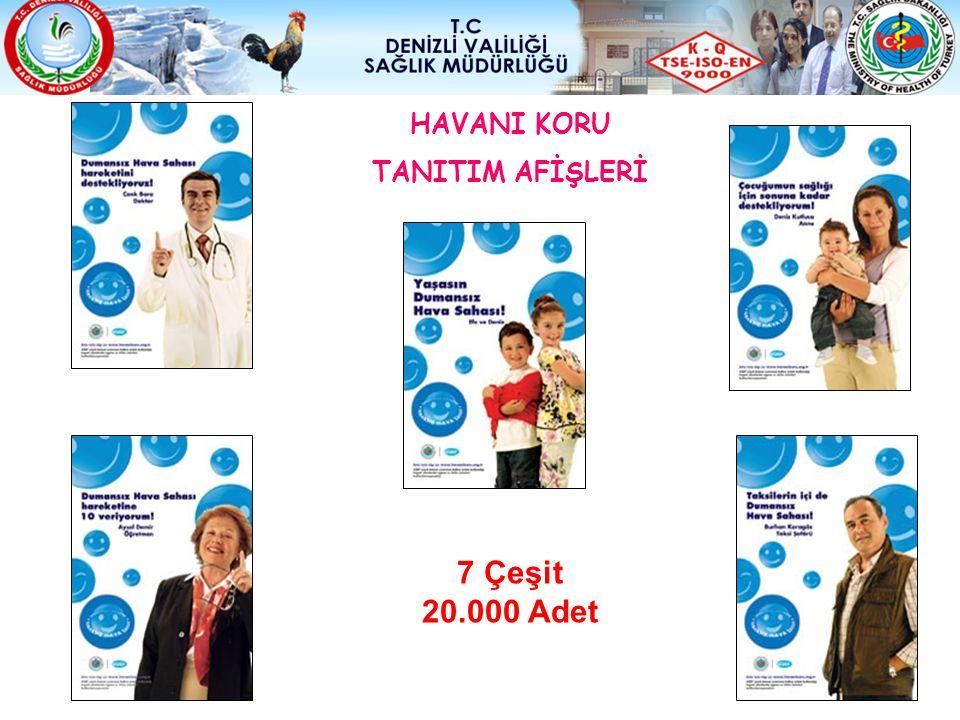 HAVANI KORU TANITIM AFİŞLERİ 7 Çeşit 20.000 Adet