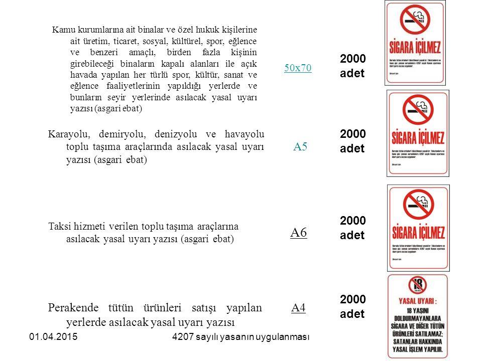 4207 sayılı yasanın uygulanması