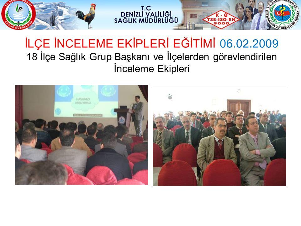 İLÇE İNCELEME EKİPLERİ EĞİTİMİ 06.02.2009