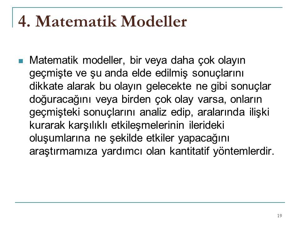 4. Matematik Modeller