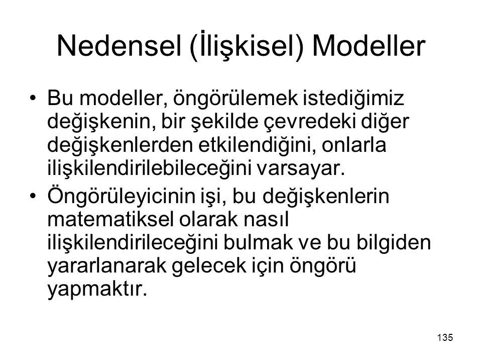 Nedensel (İlişkisel) Modeller