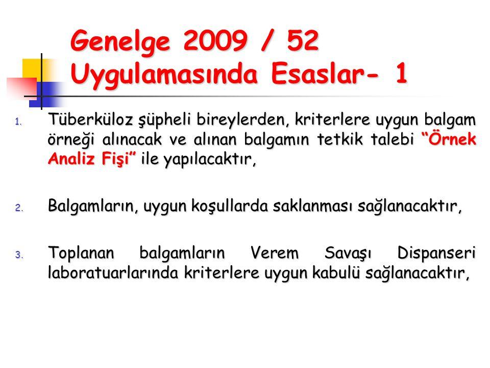 Genelge 2009 / 52 Uygulamasında Esaslar- 1