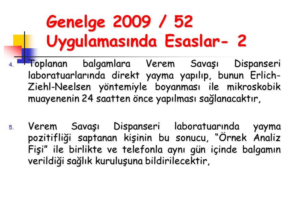 Genelge 2009 / 52 Uygulamasında Esaslar- 2