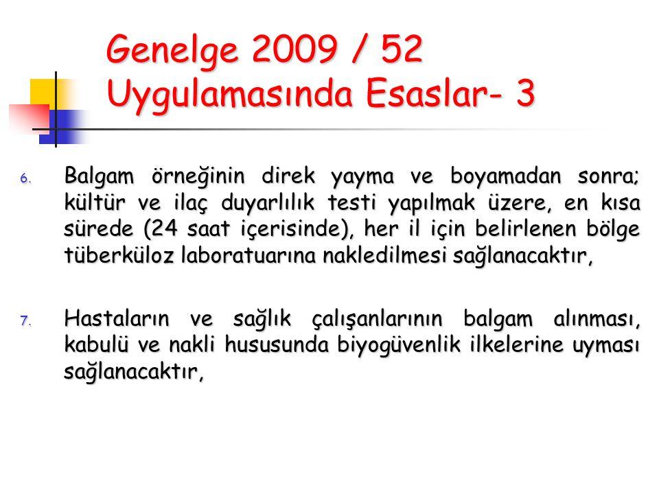 Genelge 2009 / 52 Uygulamasında Esaslar- 3