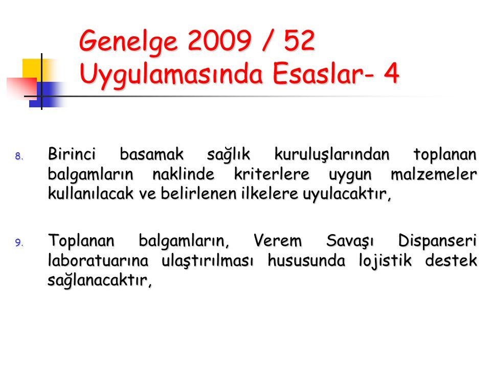 Genelge 2009 / 52 Uygulamasında Esaslar- 4