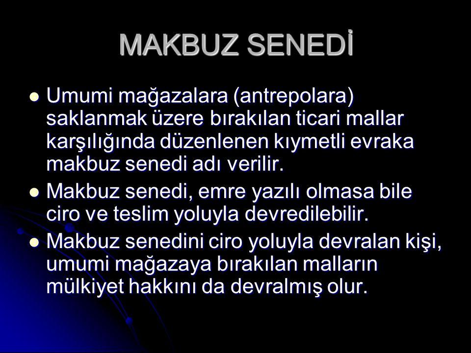 MAKBUZ SENEDİ